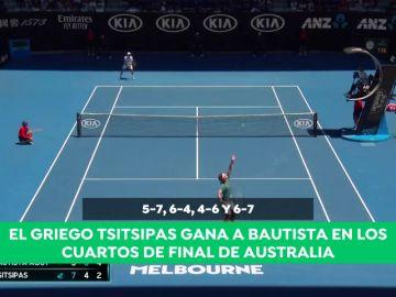 Tsitsipas acaba con la andadura de Roberto Bautista en el Open de Australia