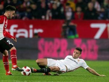 Munir, en el partido ante el Athletic
