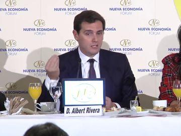 Albert Rivera asegura que los taxistas no conseguirán nada con la agresividad
