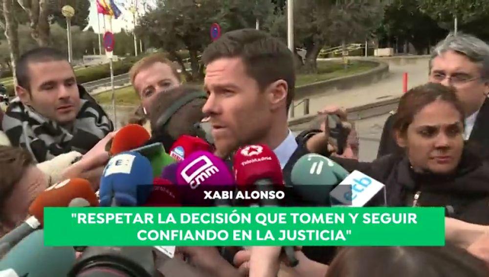 """Xabi Alonso, tras comparecer ante el juez: """"Confío en la justicia y defiendo mi inocencia"""""""