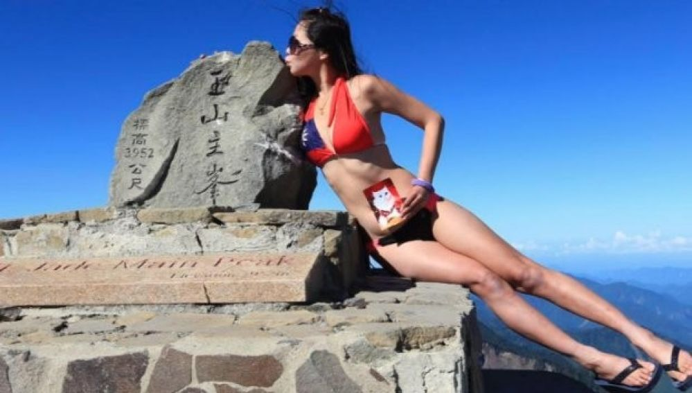Gigi Wu, la 'escaladora del bikini'