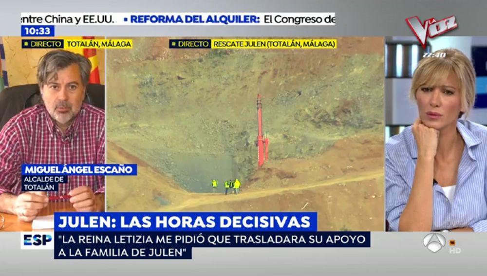 """El alcalde de Totalán: """"Cuando llegué al pozo me acojoné y pensé cómo vamos a sacar de aquí a Julen"""""""