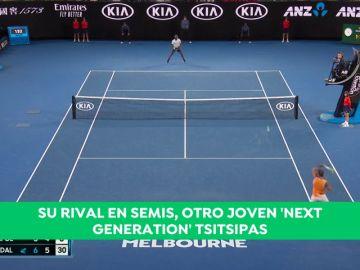 Rafa Nadal arrasa a Tiafoe y se enfrentará a Tsitsipas en semifinales del Open de Australia