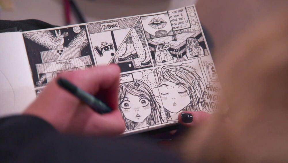 "Iria Regueiro: ""Dibujé un cómic que representa como espero que sean las Audiciones a ciegas"""