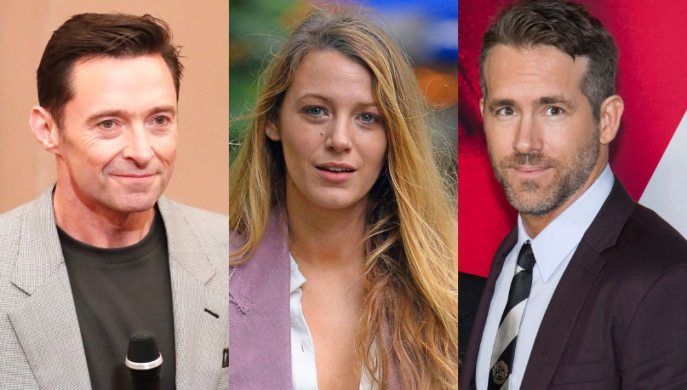 Hugh Jackman, Blake Lively y Ryan Reynolds