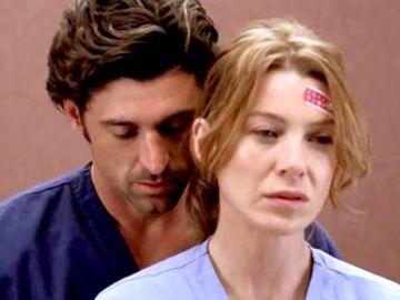 Meredith y Derek en la segunda temporada de 'Anatomía de Grey'