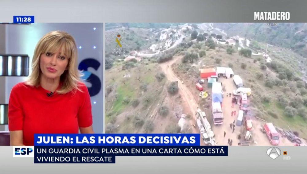 """La desgarradora carta del Guardia Civil que intenta sacar a Julen del pozo: """"No vamos a parar hasta que lo rescatemos"""""""