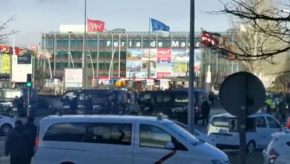 La cúpula de Madrid reunida para seguir la huelga de taxis