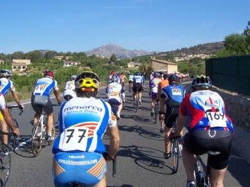 Ciclistas en Mallorca