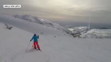 Momento del lanzamiento de un misil visto desde el Monte Hermón