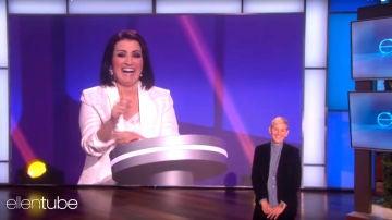 Ellen DeGeneres, fascinada con las primeras imágenes de Silvia Abril en 'Juego de Juegos'