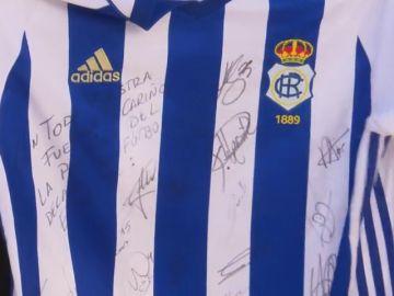 """El bonito detalle del Recreativo de Huelva con Julen: """"A Julen le gusta mucho el fútbol"""""""