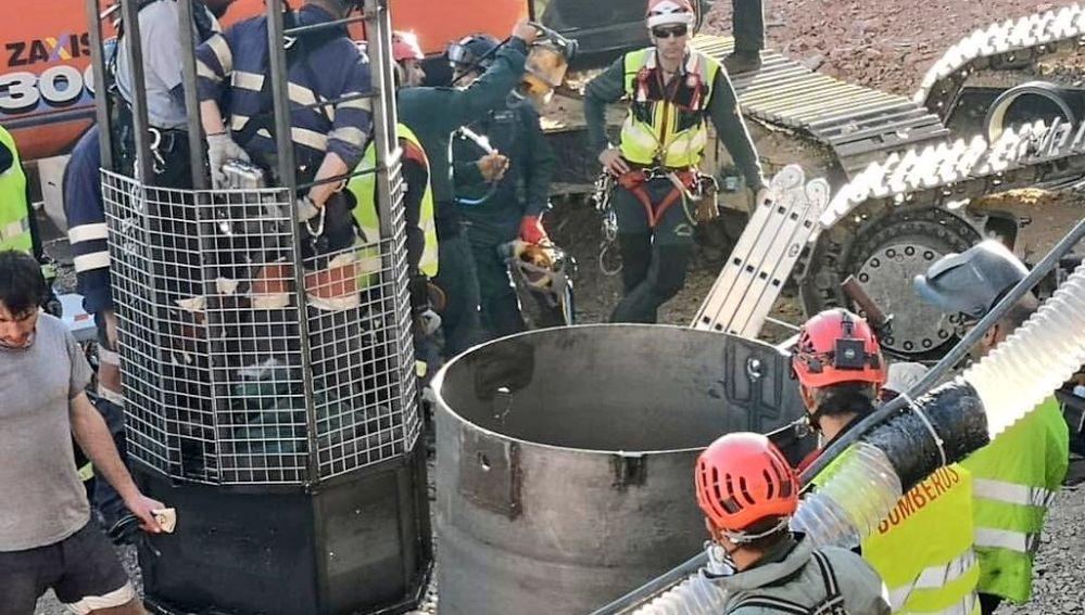 La Brigada de Salvamento Minero de Asturias accede al pozo de Totalán.