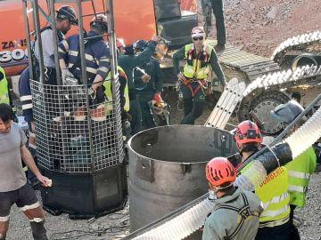 Imagen de archivo de la Brigada de Salvamento Minero de Asturias durante las tareas de rescate de Julen