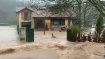 Graves problemas por desbordamiento de ríos en País Vasco y Cantabria