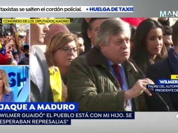 """El padre del autoproclamado presidente de Venezuela: """"No sé dónde está mi hijo pero está bien y ya trabajando"""""""