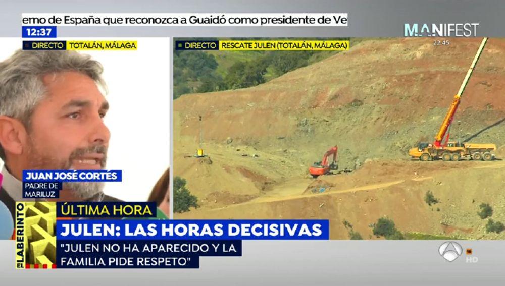 """Juan José Cortés: """"Rezaremos con los padres de Julen en la falda de la montaña para que Dios le dé fuerza"""""""