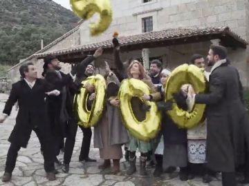 Así celebran los actores de Puente Viejo los 2.000 capítulos