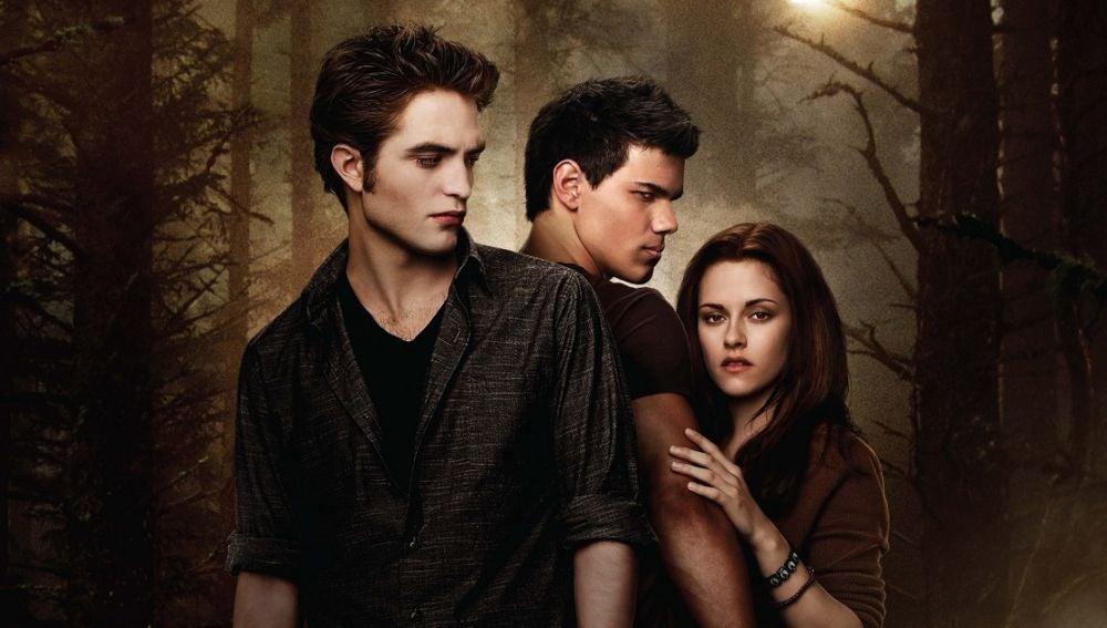 Edward, Jacob y Bella en 'Luna Nueva'