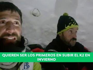 Un hito del alpinismo: Alex Txikon y su equipo construyen iglús en el campo base del K2 en pleno invierno