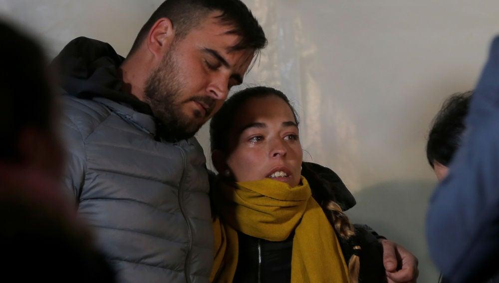 Los padres de Julen, en la vigilia en honor al niño atrapado en el pozo