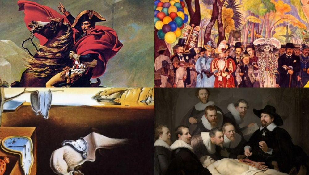Cuadros famosos de Jacques Louis David, Rivera, Dali y Rembrandt