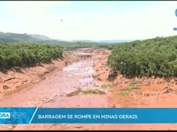 Al menos siete muertos y 200 desaparecidos tras la rotura de una presa en Brasil