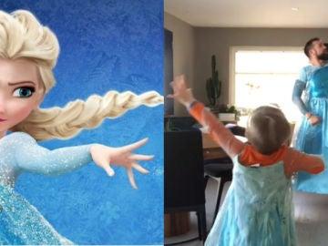 Un padre cumple el sueño de su hijo para el que Elsa de Frozen es su mayor heroína