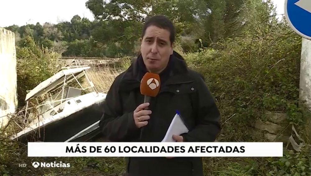 Sesenta localidades continúan afectadas por el temporal en Cantabria