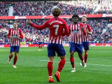 Griezmann celebra un gol del Atlético