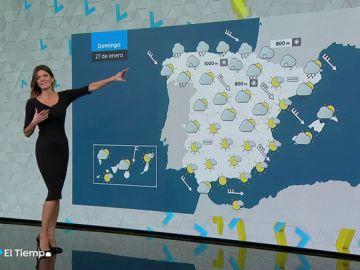 La semana se despide con viento y lluvia en el Cantábrico y nieve en Pirineos