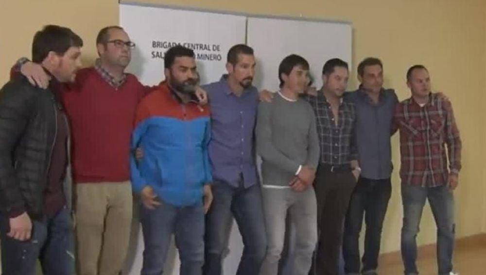 Los mineros del rescate de Julen comparecen ante la prensa