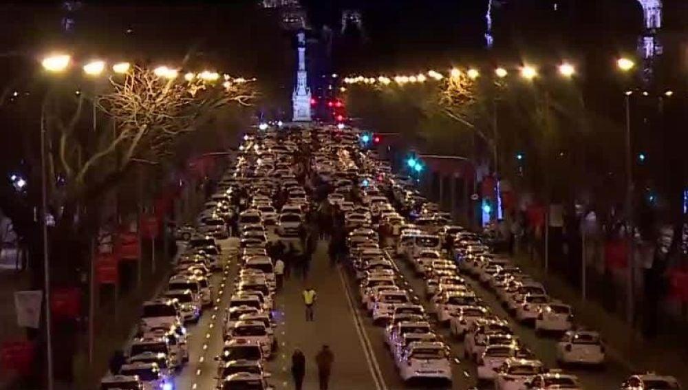 Taxis en el centro de Madrid