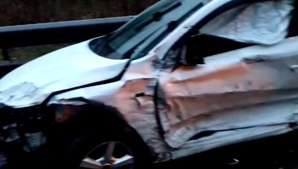 Una colisión múltiple entre 9 coches deja tres heridos en Asturias