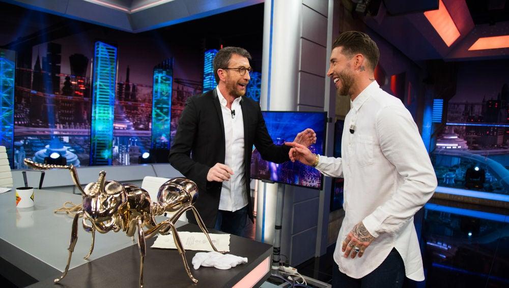 Sergio Ramos confiesa en 'El Hormiguero 3.0' en qué parte del cuerpo duelen más los balonazos