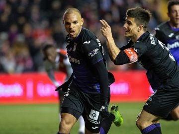 Braithwaite celebra su gol contra el Rayo Vallecano