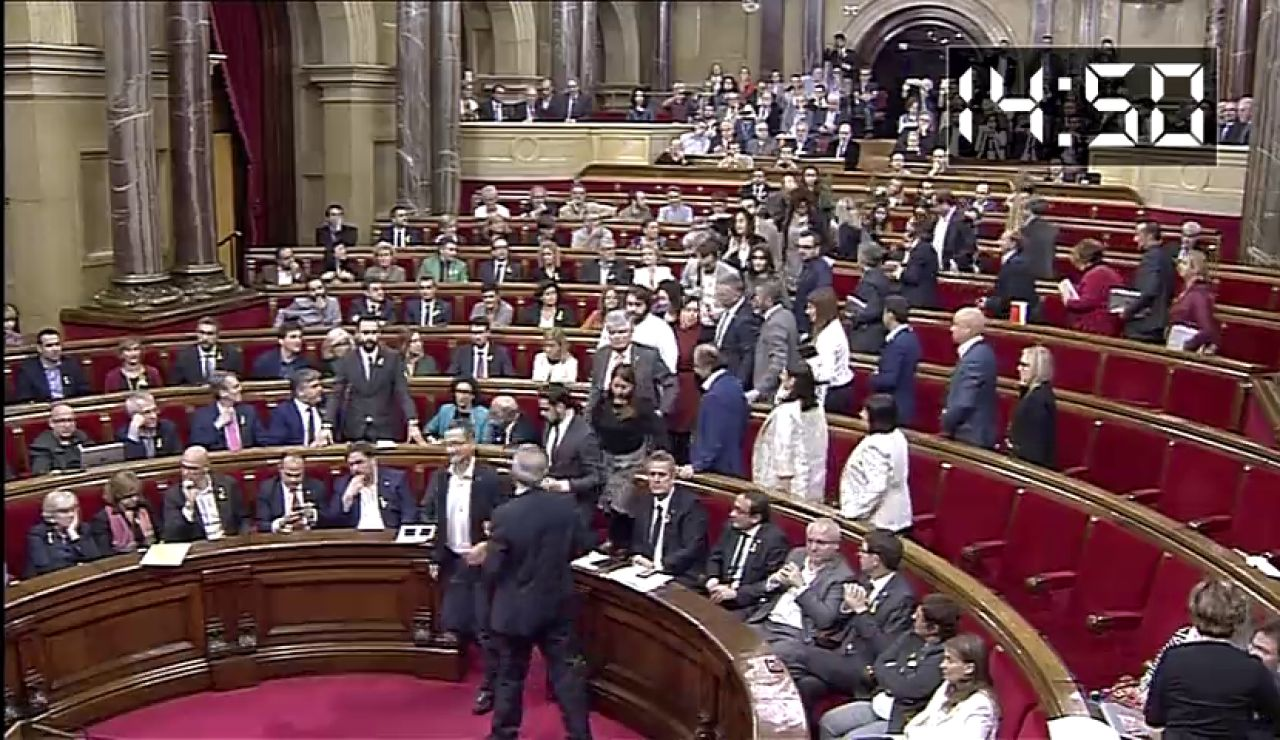 Declaración de independencia con voto secreto y con la cámara medio vacia