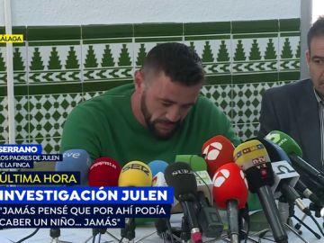 "El dueño de la finca de Totalán donde murió Julen se derrumba: ""El niño se escurrió entre los bloques y desapareció"""
