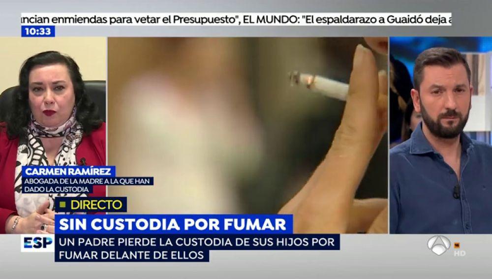 """La abogada de la madre que le ha quitado la custodia compartida a su exmarido por fumar: """"Tenía un tabaquismo severo"""""""