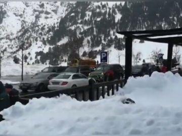 Tres días aislados por la nieve en Llanos del Hospital