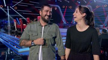 """Antonio Orozco se hace con la voz de Teresa Ferrer: """"Nos hemos puesto nerviosos los dos"""""""