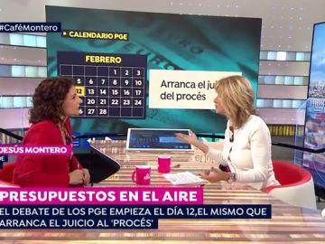 """María Jesús Montero: """"Los presupuestos son realistas y prudentes y la CE nos ha dicho que adelante"""""""