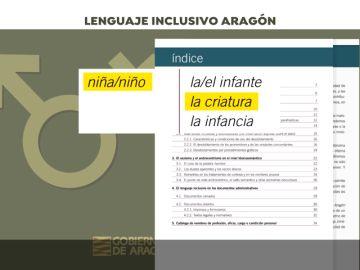 """El Gobierno de Aragón recomienda a sus """"funcionarias y funcionarios"""" que usen la palabra """"criatura"""" y no """"niño o niña"""""""