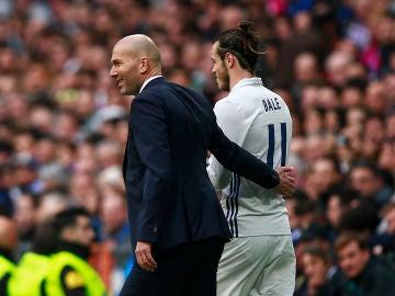 Zidane y Gareth Bale, durante un partido del Real Madrid