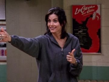 Courteney Cox como Monica en 'Friends'