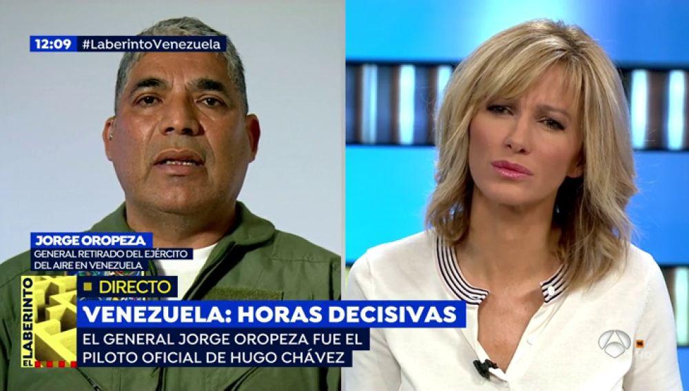 """Oropeza, general venezolano exiliado: """"Con la entrada de la ayuda humanitaria, Maduro va a caer"""""""