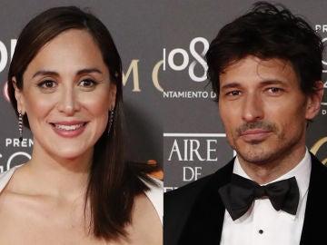 Tamara Falcó y Andrés Velencoso en los Goya 2019
