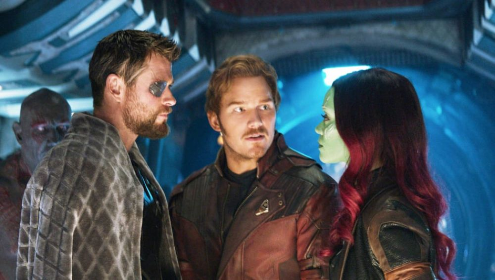 Star Lord en 'Vengadores: Infinity War'