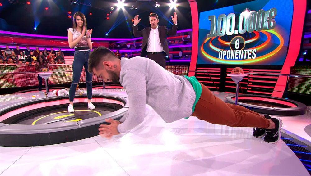 Pablo, el concursante capaz de hacer flexiones hasta que acabe el programa