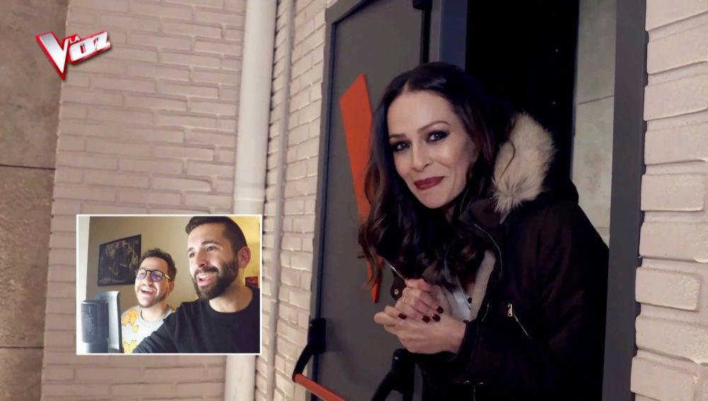 Keunam y Hermoti se meten en la piel de Eva González en su doblaje de 'El post de La Voz'
